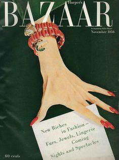 New Fashion Magazine Cover Design Harpers Bazaar Ideas Vogue Vintage, Vintage Vogue Covers, Vintage Fashion, Trendy Fashion, Vintage Art, Retro Fashion, Cheap Fashion, Fashion Models, Fashion Magazine Cover