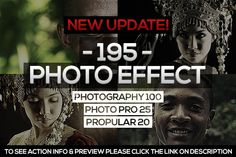 195 Photo Effect (2ND UPDATE) by isac_fabian on Creative Market