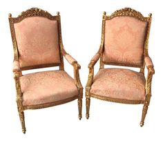 Shop side chairs at Chairish, the design lover's marketplace for the best vintage and used furniture, decor and art. Wood Chairs, Side Chairs, Dining Chairs, Bench Stool, Gold Gilding, Benches, Stools, Pairs, Furniture