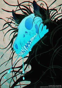 Ghost by Saagai on DeviantArt Creature Drawings, Animal Drawings, Cool Drawings, Ghost Drawings, Anime Wolf, Mythical Creatures Art, Fantasy Creatures, Arte Horror, Dark Fantasy Art