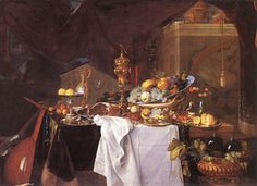 A Table of Desserts by Jan Davidsz. de Heem