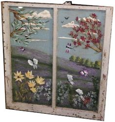 Crafting: Homemade Handmade Repurposed: How to Paint Window Glass or place a cross stich in a window fram