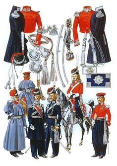 Russian Cossack officers in 1812 – 1815, Courcelle plates