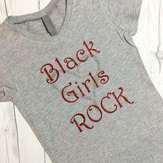 Black Girls Rock T-Shirt for Girls Free Shipping by NepherynGirl Rock T Shirts, Black Girls Rock, T Shirts For Women, Free Shipping, Trending Outfits, Etsy, Tops, Fashion, Moda