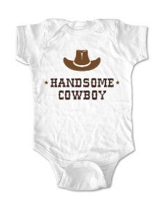 Amazon.com: Handsome Cowboy with a Hat - cute baby onesie infant clothing (6 Months Onesie, White): Baby