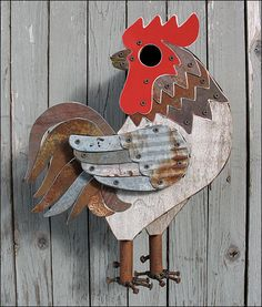 rooster bird house