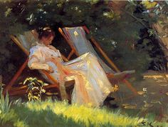 bofransson:  Marie in the Garden Peder Severin Kroyer - 1893