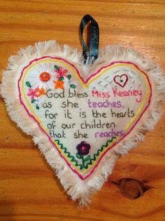 Teacher thank you heart