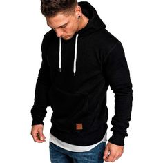 Mancave Men Everyday Tight Fit 2 Color V Shaped Geo Print Full Sleeve Hoodie