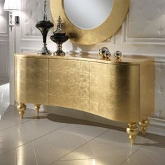 Gold Leaf Buffet Sideboard at Juliettes Interiors, discover a striking range of luxurious Italian designer furniture for any interior design. Gold Furniture, Luxury Furniture, Furniture Decor, Painted Furniture, Modern Furniture, Furniture Design, Furniture Stores, Cheap Furniture, Antique Furniture