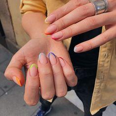 nails rainbow french \ nails rainbow + nails rainbow pastel + nails rainbow acrylic + nails rainbow tips + nails rainbow ombre + nails rainbow glitter + nails rainbow design + nails rainbow french Nail Swag, French Nails, French Manicures, Cute Acrylic Nails, Gel Nails, Nail Manicure, Nail Polish, Nagel Hacks, Nagellack Trends
