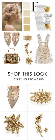 """""""My girl, my girl, don't lie to me Tell me, where did you sleep last night? In the pines, in the pines, where the sun don't ever shine I would shiver the whole night through."""" by bonjourmisshepburn ❤ liked on Polyvore featuring Valentino, Oscar de la Renta and Dolce&Gabbana"""