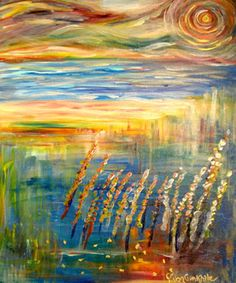 Harvest - by Janice VanCronkhite.  A beautiful painting full of life.  Shown on an inspirational blog about living generously (not just with your money) - Generous Disciples.