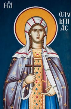 Olympia the Deaconess - July 25 John Chrysostom, Greek Icons, Lives Of The Saints, Greek Gifts, Gifts For Sailors, Happy Belated Birthday, Orthodox Icons, Persecution, Olympia