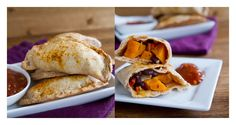 Chipotle Black Bean and Sweet Potato Empanada | Naturally Ella;   for processor dough: just toss all the dry ingredients, pulse to combine, mix all the wet ingredients and add while the machine is running (if you have the spout thing at the top.
