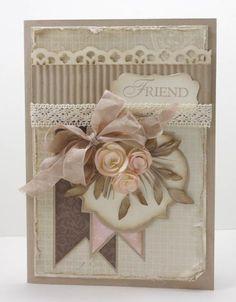 Spellbinders JustRite vintage labels 3 ; Decorative punch ; Lace ribbon border punch