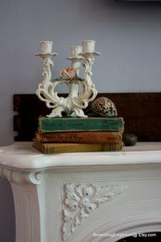 Volkstedt candelabra // Karl Ens porcelain by BrownDogEmporium $175