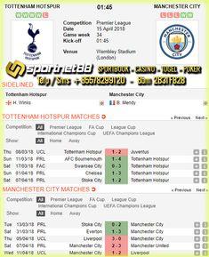Prediksi Skor Bola Tottenham Hotspur vs Manchester City 15 Apr 2018 Liga Inggris hari Minggu jam 21:15 WIB disiarkan live di bein Sport 1