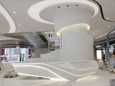 Futuristic interior decoration ideas for your home 3 Reception Desk Design, Reception Counter, Hotel Reception, Lobby Interior, Home Interior, Interior Decorating, Interior Design, Interior Ideas, Design Design
