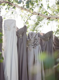 #Bridesmaids Dresses -- Shades of Gray ||