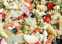 Greek Pasta Salad Recipe -  Very Delicious. You must try this recipe!