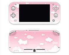 Pastel Pink Sky Clouds Full Wrap for Nintendo Switch Lite Vinyl Skin for Nintendo Switch Lite Premium Vinyl overlaminate Pink Clouds, Pink Sky, Sky And Clouds, Pastel Pink, Nintendo Lite, Nintendo Switch Case, Nintendo Switch Accessories, Computer Accessories, Nintendo Switch Animal Crossing