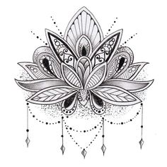 Sets Lotus Flower temporary tattoos by TattooLifeStyle on Etsy                                                                                                                                                                                 Mais