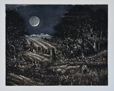 Black Moon 2015 - etching and aquatint