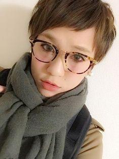 Short haircut and glasses
