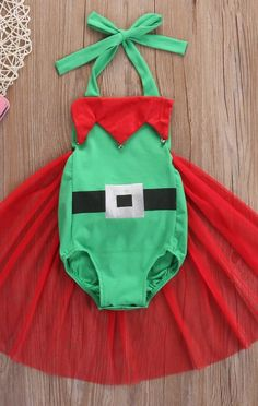8056fdfe593e Christmas Elf sequin Romper Tutu Christmas Infant by SissyLeighInc Newborn  Christmas