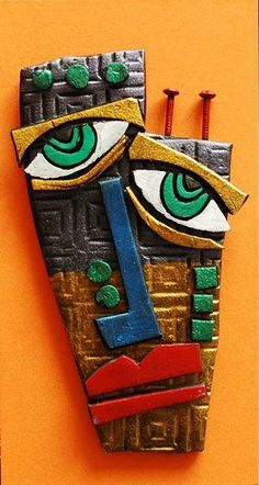 Check out student artwork posted to Artsonia from the Kimmy Cantrel Clay Face project gallery at Alum Creek Elementary School. Sculpture Lessons, Sculpture Art, Ceramic Sculptures, Kimmy Cantrell, Ceramic Mask, Porcelain Ceramic, Art Visage, Abstract Face Art, Cubism Art