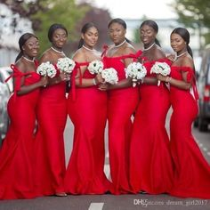 African Red Plus Size Bridesmaid Dresses Sexy Spaghetti Mermaid Wedding Guest Dress African Cheap Bridemaid Dress Custom Made Cheap Red Bridesmaid Dresses, Off Shoulder Bridesmaid Dress, Bridesmaid Dresses Plus Size, Designer Bridesmaid Dresses, Wedding Bridesmaid Dresses, Lace Bridesmaids, Dress Wedding, Wedding Guest Gowns, Plus Size Wedding Guest Dresses