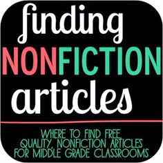 The Brown-Bag Teacher: Finding Nonfiction Articles for Middle Grades