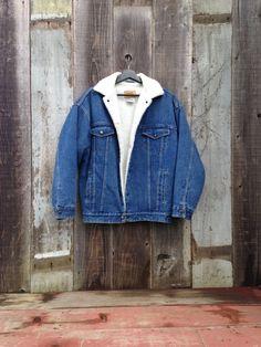 bfb0a44a5931 Beautiful Vintage Sherpa Denim Jacket Insulated Denim Jacket