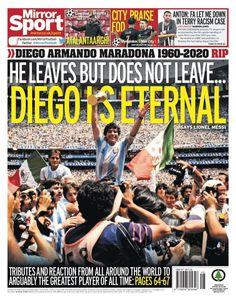 Lionel Messi, Mexico 86, Roberto Baggio, Diego Armando, Newspaper Cover, Let Me Down, Professional Football, Latest Sports News, Argentina