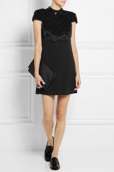 Saint Laurent|Paillette-embellished crepe mini dress|NET-A-PORTER.COM