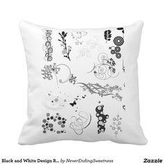 Black and White Design Reversible pillow