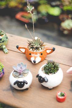 Поднимаем настроение мелочами: 18 оригинальных цветочных горшков – Вдохновение