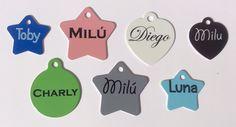 Placas unicolor para mascotas Pinpet