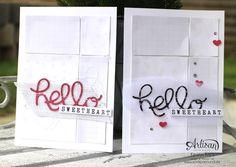 """Stamping & Blogging DT Sketch91 Karte """"hello sweetheart"""" mit SAB Designerpapier """"Zauberhaft"""" und Thinlits """"Grüße"""""""