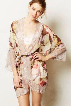 beautiful kimono robe to wear around the house from Anthropologie.