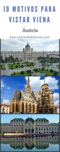 Motivos para visitar e amar Viena, a capital da Áustria.  #vienna #viena List Of Countries, Countries Of The World, Eurotrip, Innsbruck, Austria, The Good Place, Taj Mahal, Places To Visit, Louvre