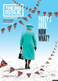 """coverjunkie: """" The Big Issue (UK) Haha love this! This weeks cover The Big Issue Magazine about all the Queen celebration festivities Art Director: Mark Neil Great mag concept; """"The Big Issue was set. Architecture Magazines, Art And Architecture, Editorial Layout, Editorial Design, Magazine Cover Design, Magazine Covers, Issue Magazine, Real Simple Magazine, Ad Art"""