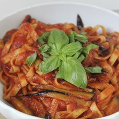 Pasta alla Norma is the signature dish of Catania in Sicily. And one of the best aubergine recipes ever.