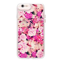 iPhone 7 Plus/7/6 Plus/6/5/5s/5c Case - Elegant Pink Chic Floral... (€43) ❤ liked on Polyvore featuring accessories, tech accessories, iphone case, transparent iphone case, pink iphone case, apple iphone case, iphone cases and glitter iphone case