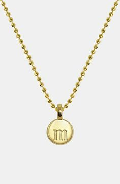 Alex Woo 'Mini Addition' Initial Pendant available at #Nordstrom