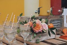 Drink station, juice bar station, drink bar, Garden roses, citrus decor, girl first birthday party, baby shower, floral arrangements, peonies and roses, orange themed party, citrus theme party