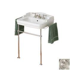 Cheviot Essex White Wall-Mount Rectangular Bathroom Sink with Overflow
