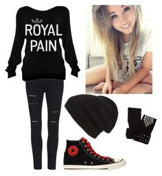 """Black"" by secretshadow ❤ liked on Polyvore featuring Phase 3 and Converse"
