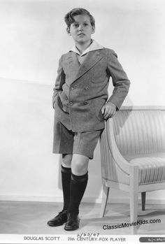 Douglas Scott started out as a dancer. He appeared in his first movie at just 4 years old, and went on to appear in 40 more movies by the age of 18, appearing with some of Hollywood's biggest stars. Some of his film credits include Cavalcade (1933), Lloyd's of London (1936) which also starred classic child actor Freddie Bartholomew, and Intermezzo (1939) starring Leslie Howard and Ingrid Bergman
